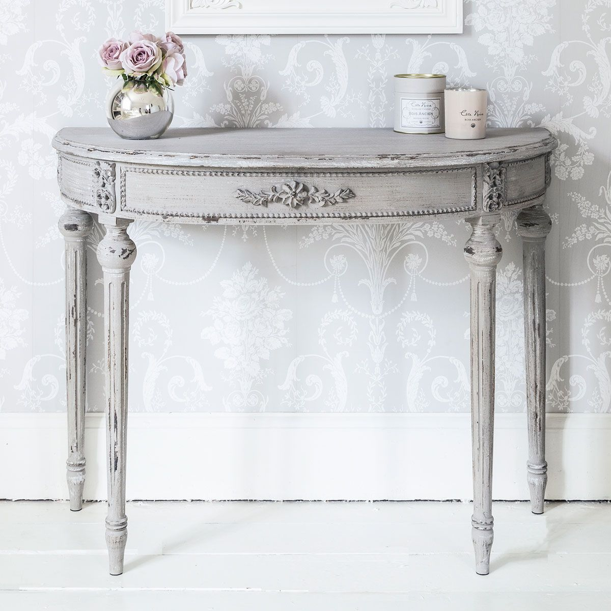 half moon table for aesthetical look hometowntimes linda white accent dale tiffany ceiling lights rechargeable battery lamp long wooden antique victorian marble top end tables bbq