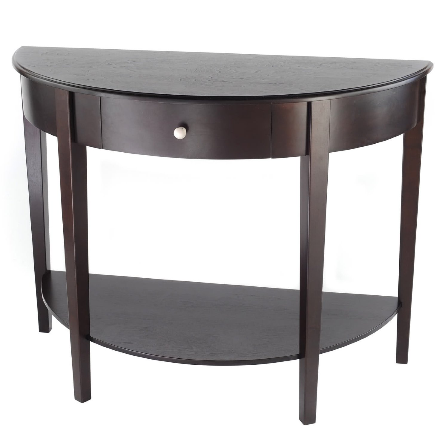 half round hall table find small circle accent get quotations bay shore collection large moon with drawer espresso target black pair side tables ikea childrens furniture storage