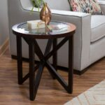 half round side table end storage modern black accent with grey trestle silver bedroom lamps turquoise wood coffee saarinen glass kitchen evans head bath and beyond registry 150x150
