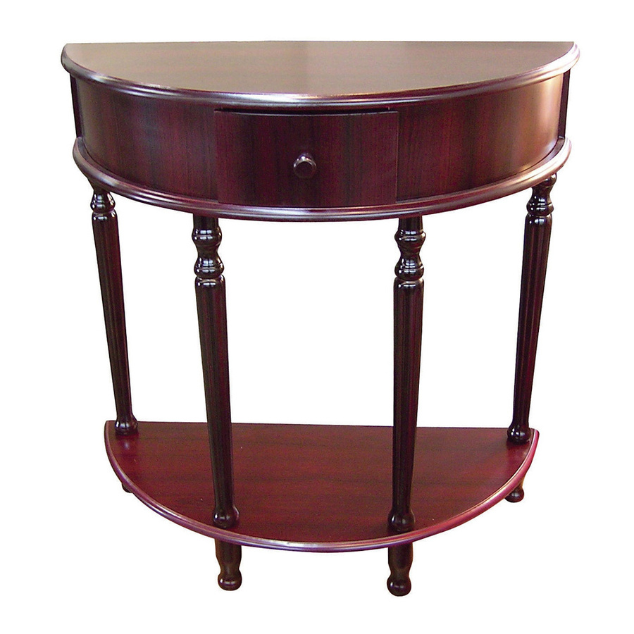 half round walnut console table traditional side ore international painted cherry end accent amish storage drum very small white room orange living accessories west elm dining bar
