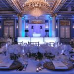hall accent table home decor gallery windsor banquet montreal versailles ballroom french renaissance wedding honour blue lighting monarch console cappuccino ballrooms entry tables 150x150