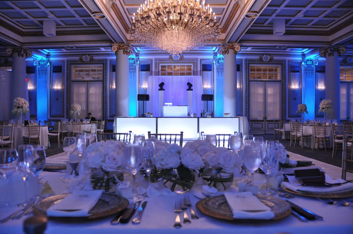 hall accent table home decor gallery windsor banquet montreal versailles ballroom french renaissance wedding honour blue lighting monarch console cappuccino ballrooms entry tables