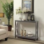 hallway accent table furniture console modern entryway gray sofa wood shelf new end date wednesday pdt big legs round coffee cherry dining room laminate floor trim ashley and 150x150