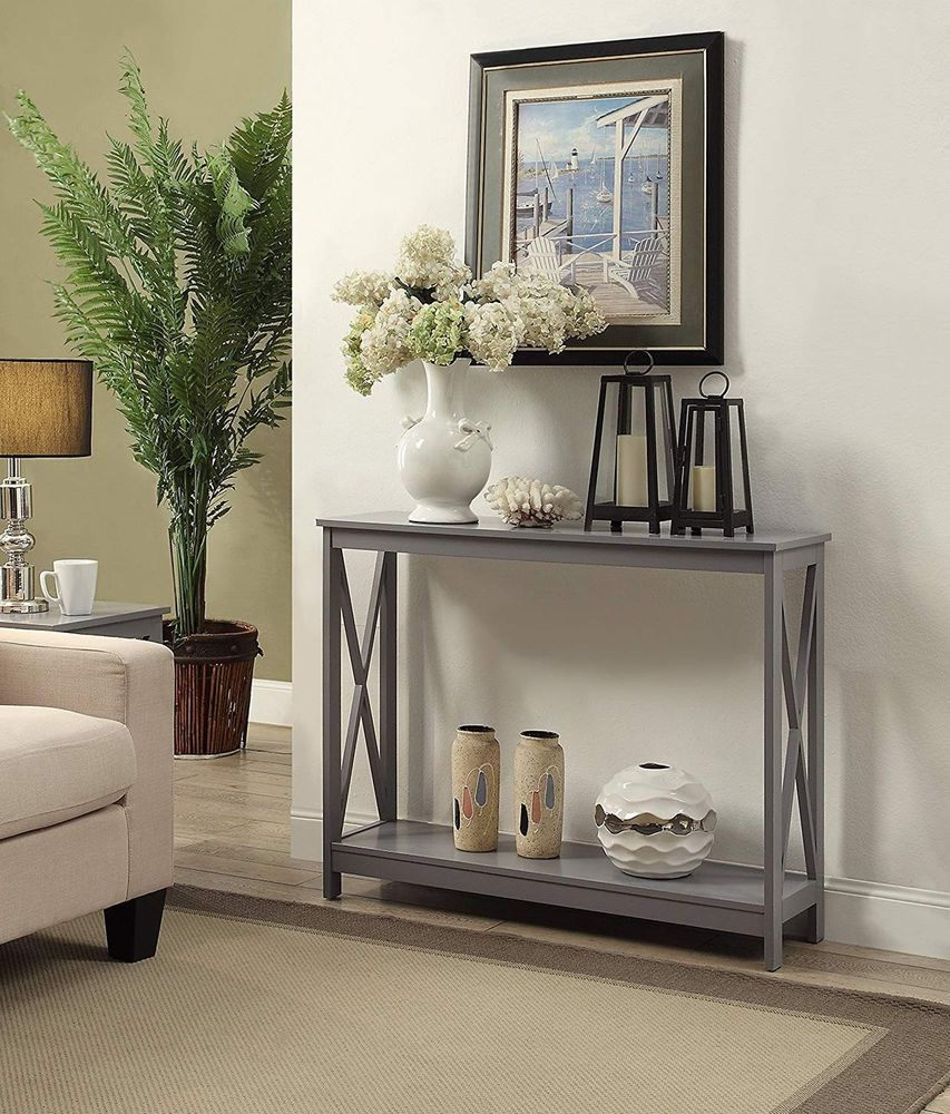 hallway accent table furniture console modern entryway gray sofa wood shelf new end date wednesday pdt big legs round coffee cherry dining room laminate floor trim ashley and