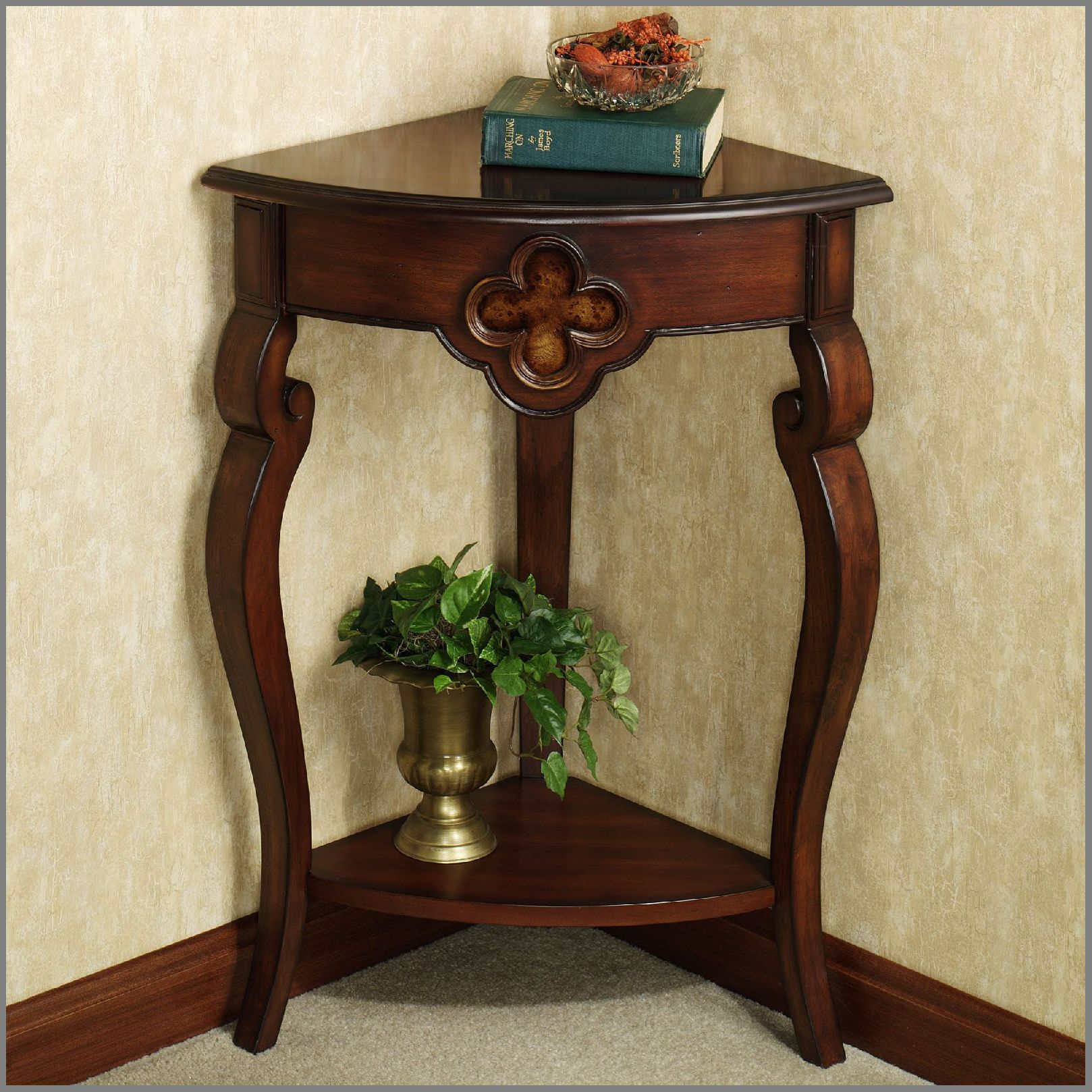 hallway corner accent table home decor ideas pine end with drawer small white half moon outdoor storage bench side wheels living room threshold windham cabinet blue lamps bedroom