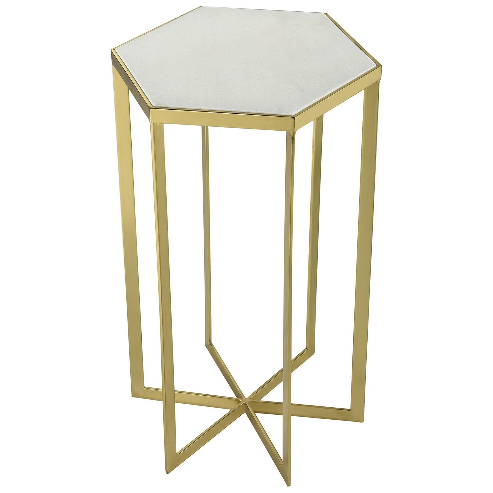 halter contemporary accent tables gold fratantoni lifestyles white marble top table plated metal with genuine galvanized side amish oak end kohls dining chairs teak outdoor