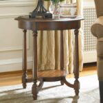 hamilton home living room accents round accent table with applique products hooker furniture color brown accentsround easter runner quilt patterns console lamps marble occasional 150x150
