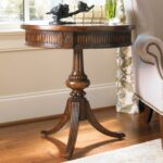 hamilton home living room accents round accent table with ornate products hooker furniture color metal and wood pedestal ethan allen chairs legs for weber grill side accessory 150x150