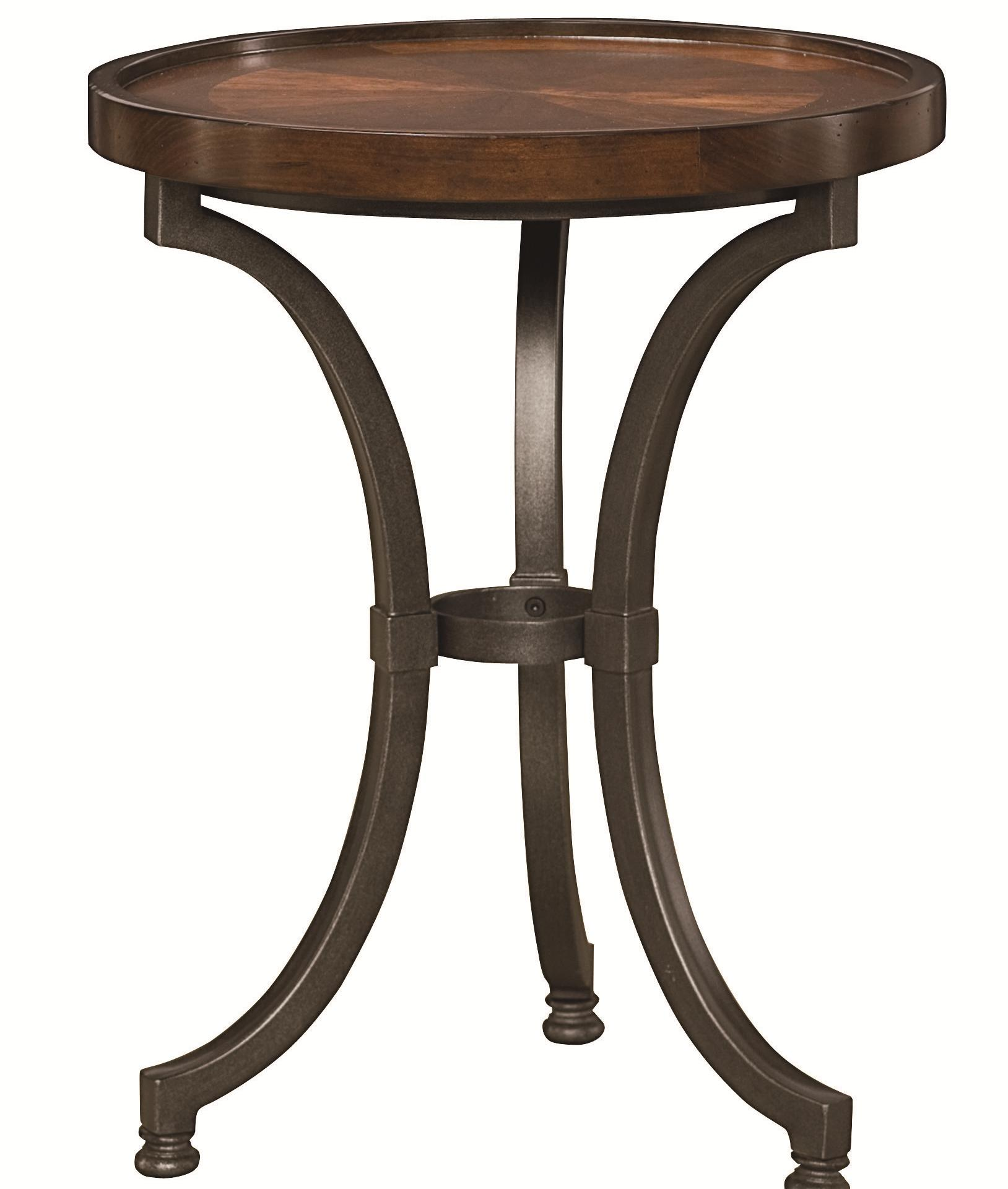 hammary barrow round chairside table with metal base wayside products color top accent glass nesting coffee tables threshold rustic country trestle very small nest jcpenney bag