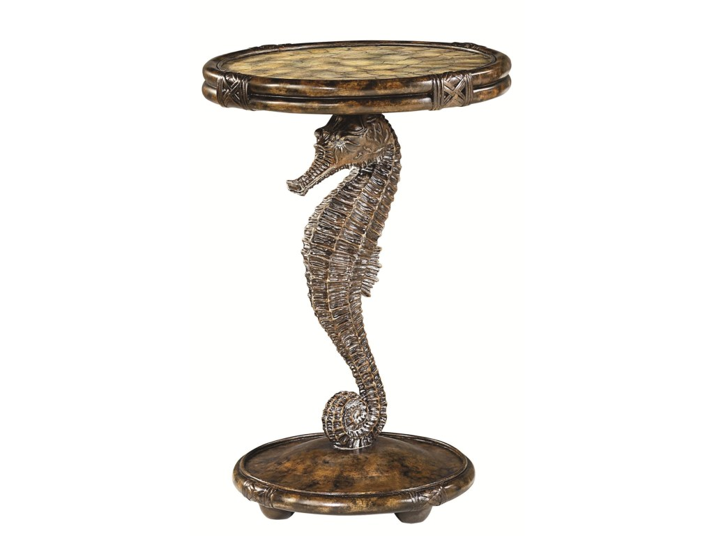 hammary boracay seahorse pedestal accent table with round capiz products color antique boracayseahorse threshold bars for laminate flooring west elm mirror small half circle