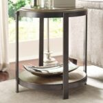 hammary evoke contemporary round accent table with shelf products color glass tables gill brothers furniture end wicker occasional target entry stands percussion stool pub cherry 150x150