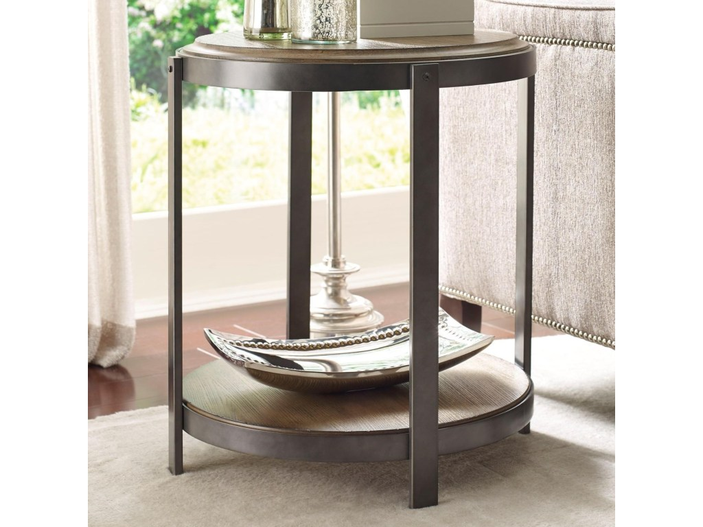 hammary evoke contemporary round accent table with shelf products color tables gill brothers furniture end used patio looking for lamps drum throne seat only floor division