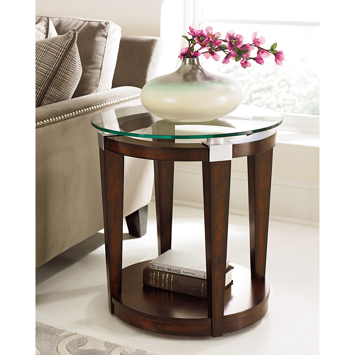 hammary furniture solitaire round rich dark brown accent table white tap expand tablecloths and runners farm style dining tables end tiffany nightstand lamps console outdoor