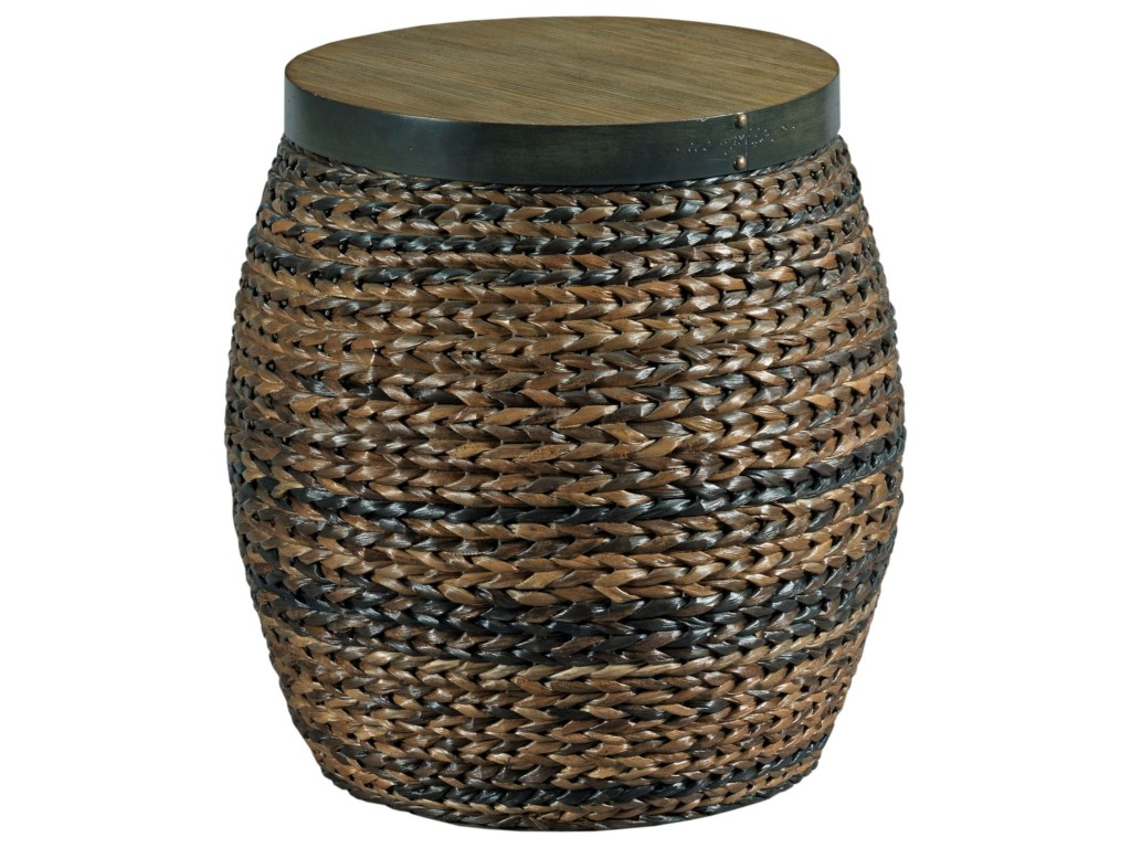 hammary hidden treasures round accent basket style table wayside products color wicker treasuresround reclaimed oak furniture clear coffee dark wood side live edge brown threshold