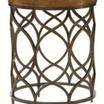 hammary hidden treasures round lamp table with decorative home goods accent lamps perched bird bronze console behind couch small cherry side heavy duty drum throne pottery barn 150x150