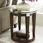 hammary solitaire round accent table rich dark brown beyond cupboards black side pearl drum throne with backrest electric wall clock cement outdoor dining ashley bedroom furniture 150x150