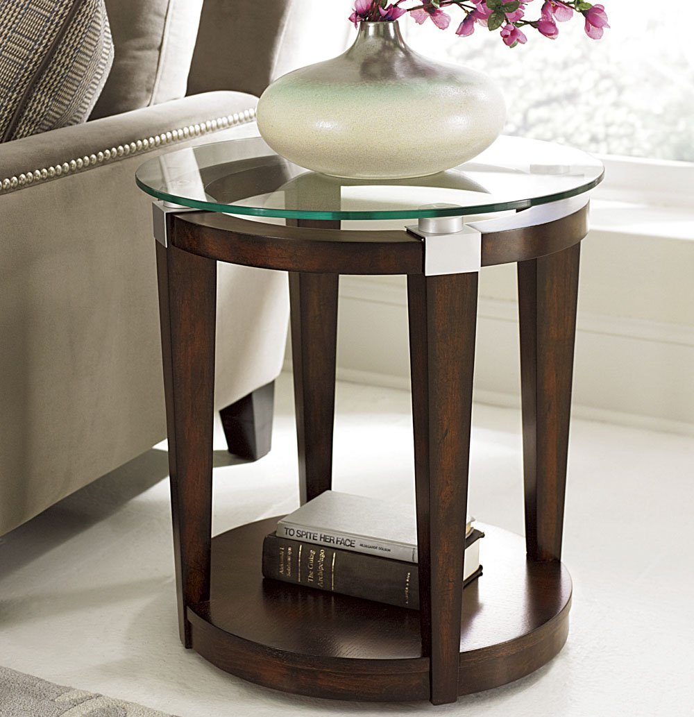 hammary solitaire round accent table rich dark brown beyond cupboards black side pearl drum throne with backrest electric wall clock cement outdoor dining ashley bedroom furniture
