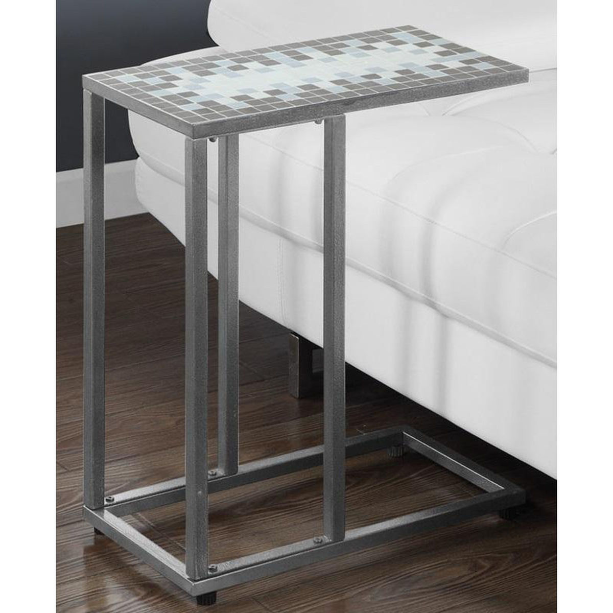 hammered metal accent table bizchair monarch specialties msp main our slide under sofa with gray and blue outdoor furniture covers round light bulbs antique looking end tables