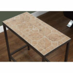 hammered metal accent table bizchair monarch specialties msp our with terracotta mosaic tile top brown console shelves and drawers round washable tablecloth small narrow end 150x150