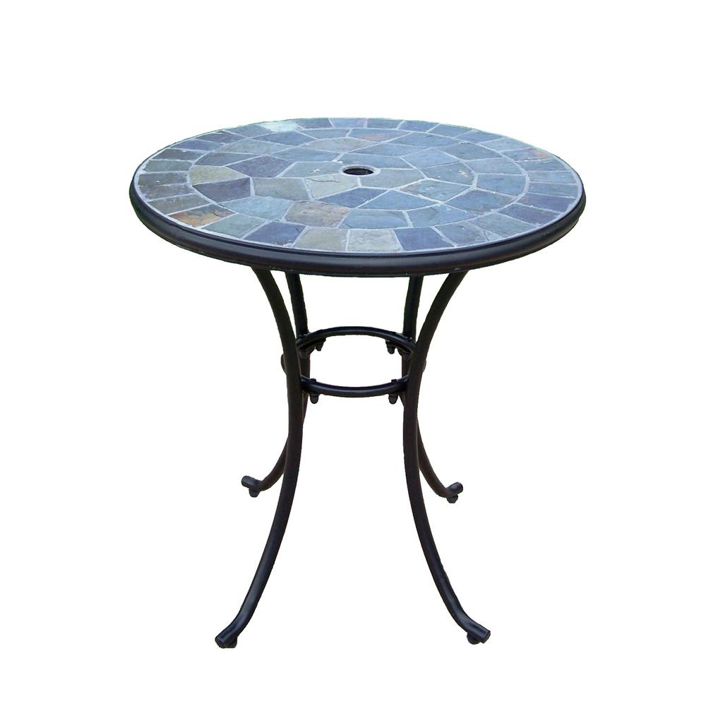 hampton bay glass patio tables furniture the outdoor bistro spring haven umbrella accent table coffee metal hopkins white drop leaf kitchen brown wicker end target and chairs iron