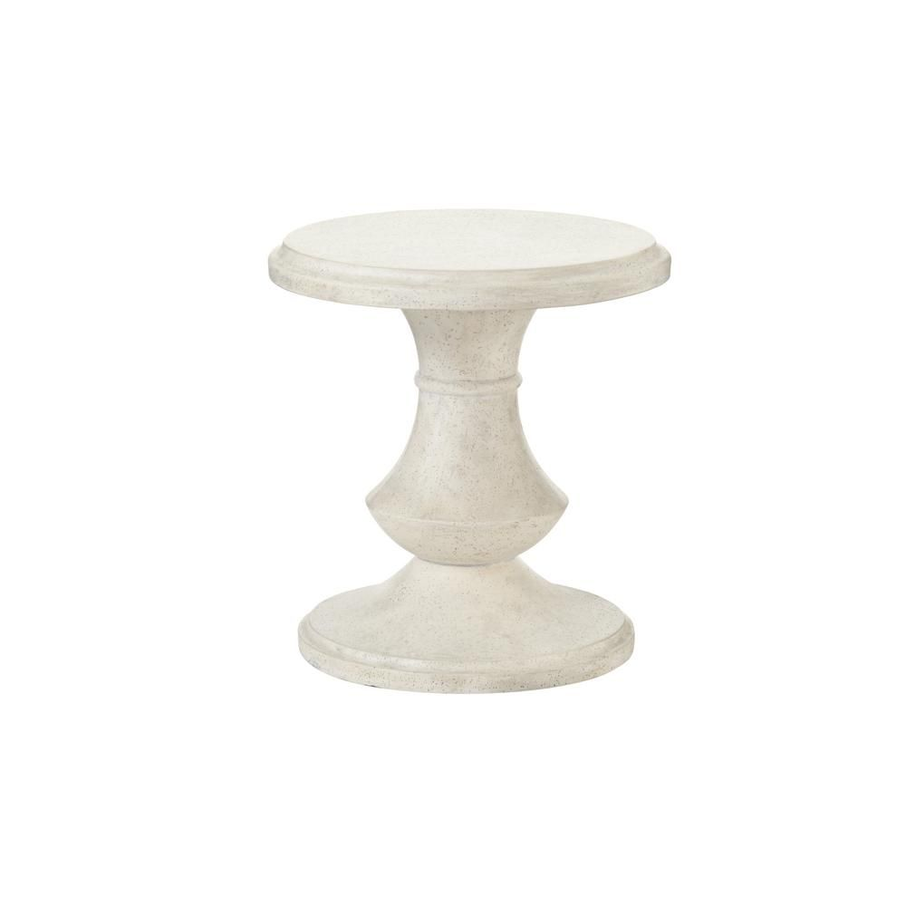 hampton bay megan round terrafab outdoor accent table rounding bombay outdoors pineapple umbrella furniture world clear crystal lamp shade ikea shelf office cupboard drawer
