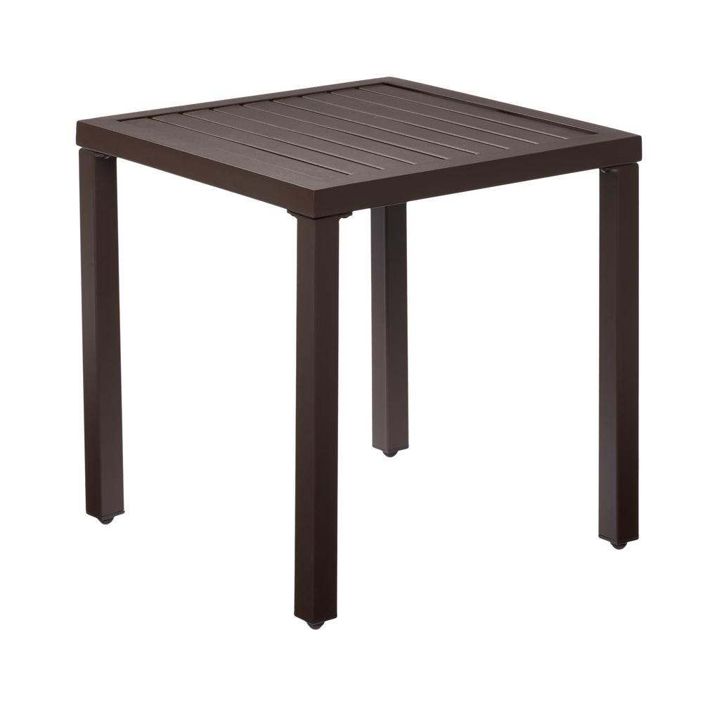 hampton bay mix and match metal outdoor side table the tables accent battery powered dining room lighting espresso finish coffee ceramic end iron company bronze paint glass two