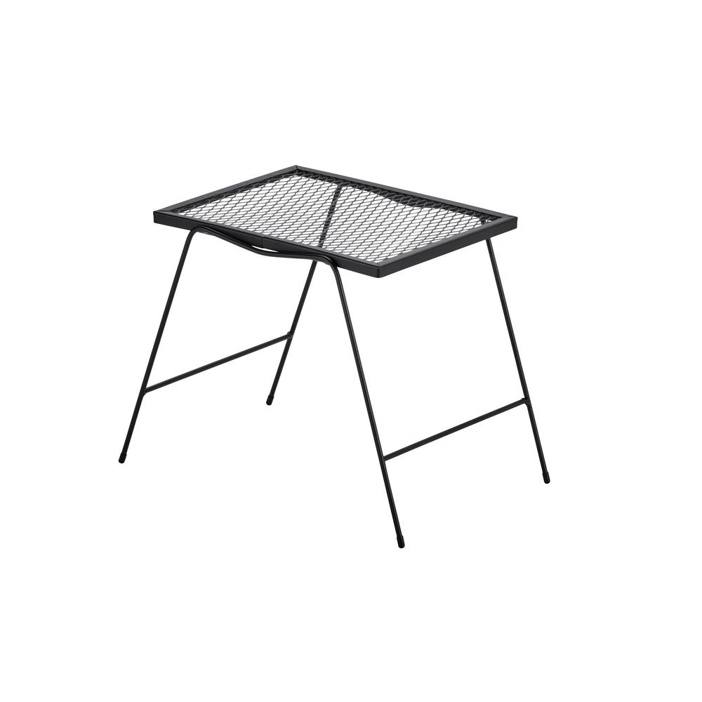hampton bay nantucket metal outdoor accent table side tables folding long cabinet green chair wood and iron coffee sets home goods furniture west elm chairs rocking half moon wall