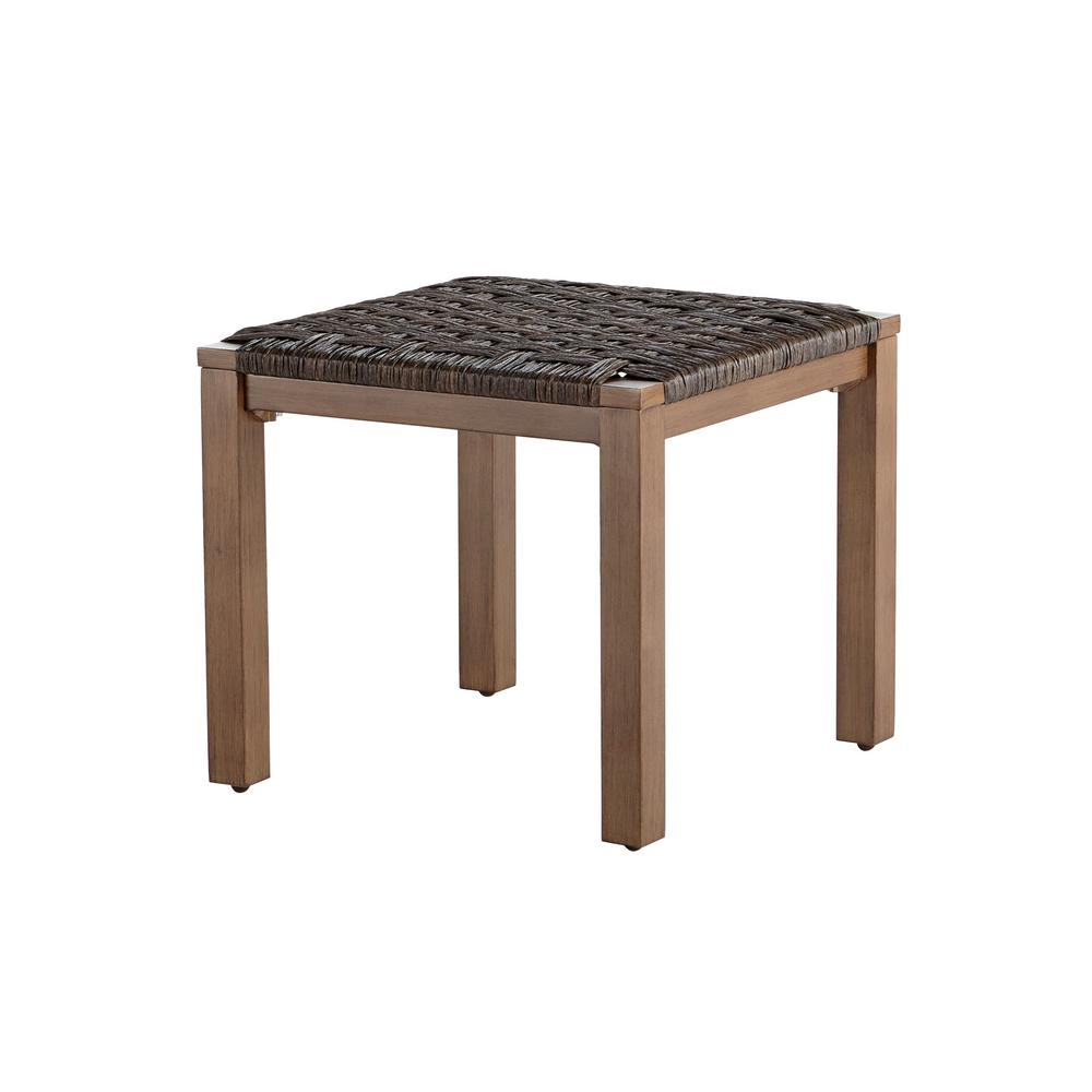 hampton bay oak cliff metal outdoor side table patio accent tables unique room lamp easy diy coffee blue foyer wedding reception decorations entryway bench ikea night for small
