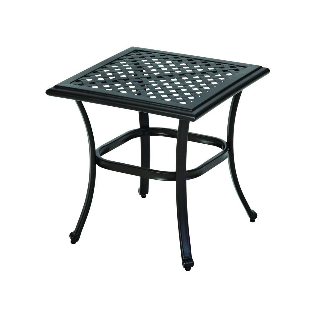 hampton bay park meadows brown wicker outdoor accent table modern patio end tables pottery barn dishes corner study door media console black metal frame coffee antique side