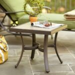 hampton bay patio accent table side square porch outdoor furniture pembrey res metal tables console bathtub round coffee tiffany butterfly lamp nate berkus target rustic grey end 150x150