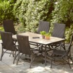 hampton bay patio dining furniture the sets spring haven umbrella accent table pembrey homebase inexpensive lamps sei mirage mirrored stand alone coffee mat white set lift 150x150