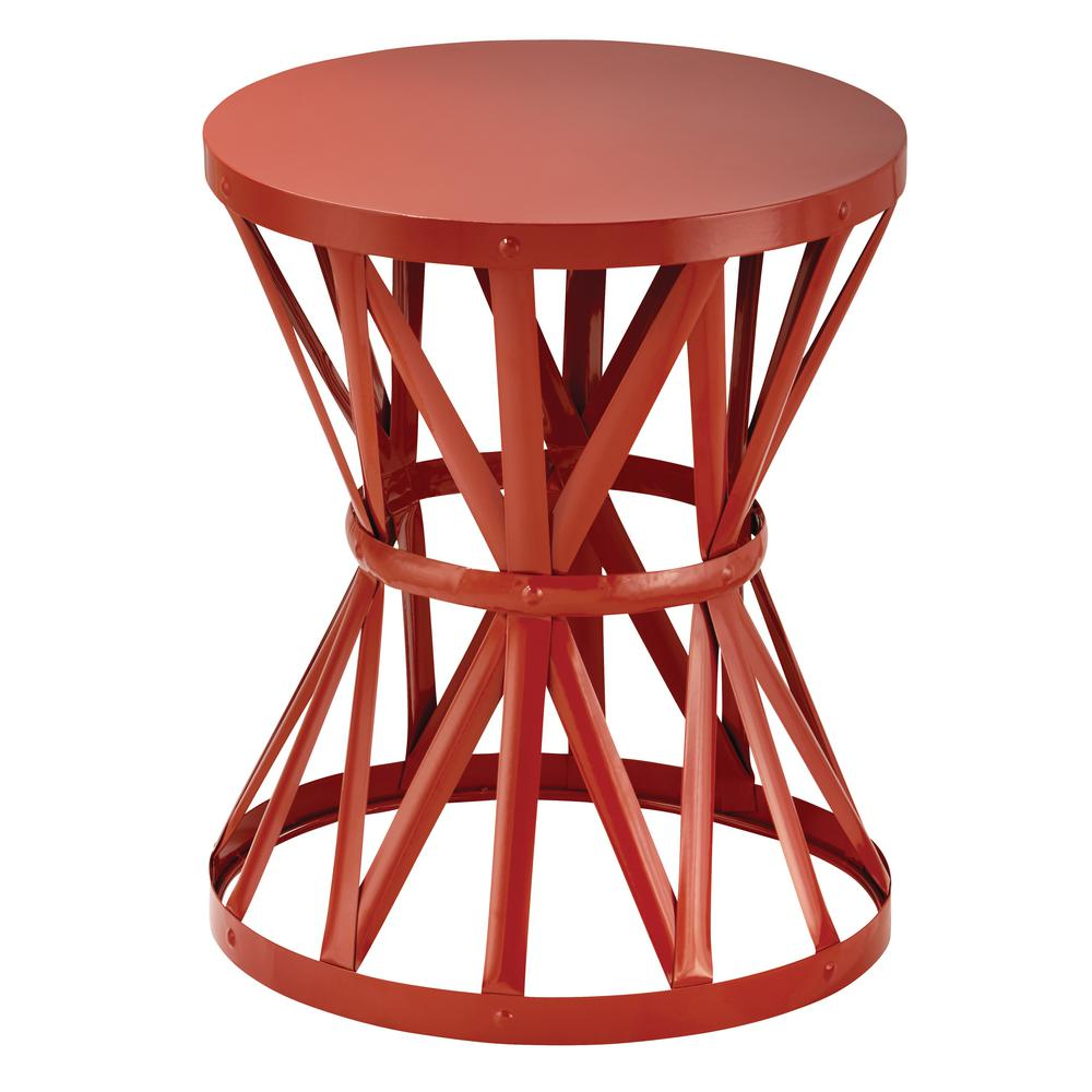 hampton bay round metal garden stool chili outdoor side tables table pottery barn rain drum dining room legs wood diy cocktail butterfly bedside lamp ikea white coffee decorative
