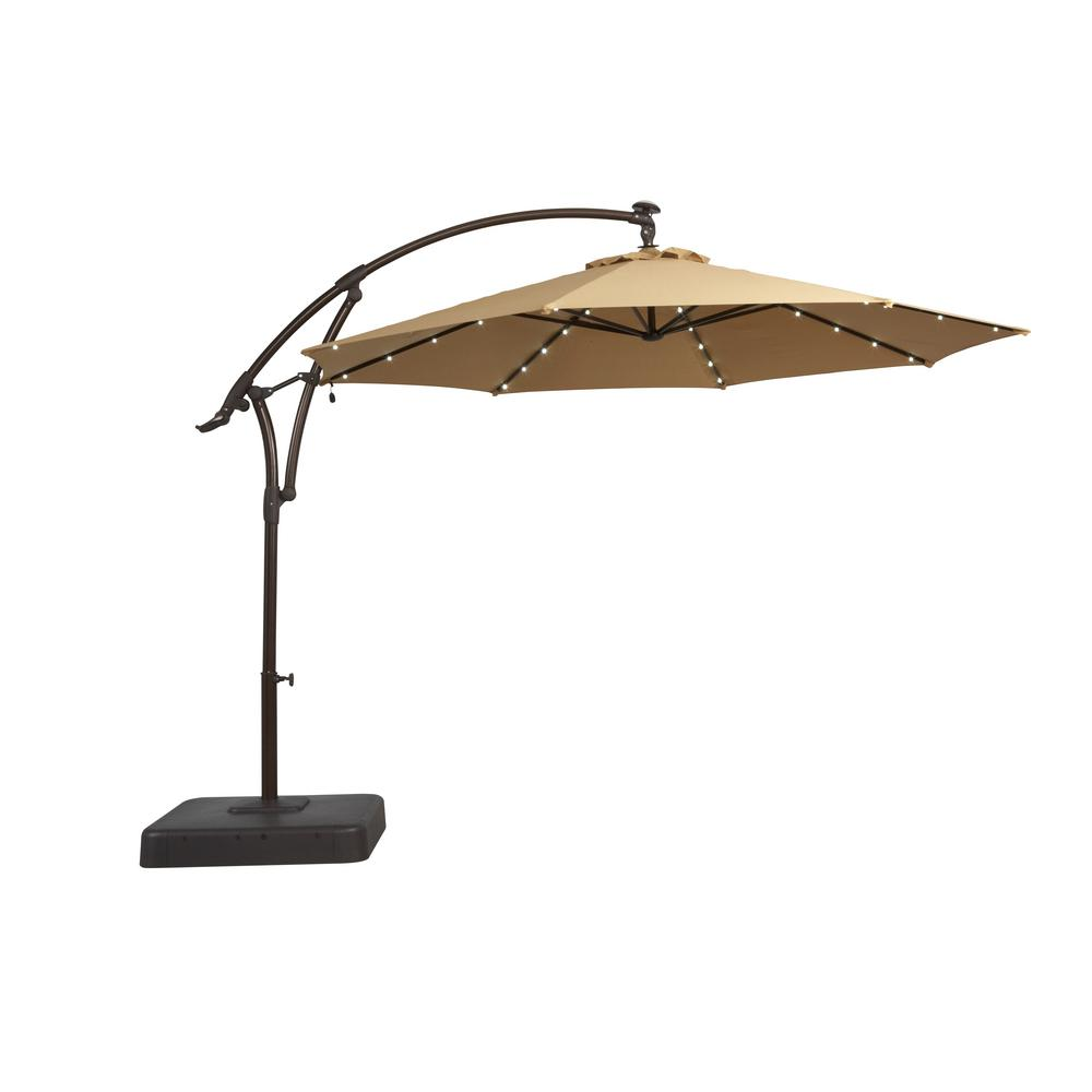 hampton bay solar offset patio umbrella cantilever umbrellas outdoor stand side table cherry with drawer windham storage cabinet quatrefoil end ceramic stool target gold drum