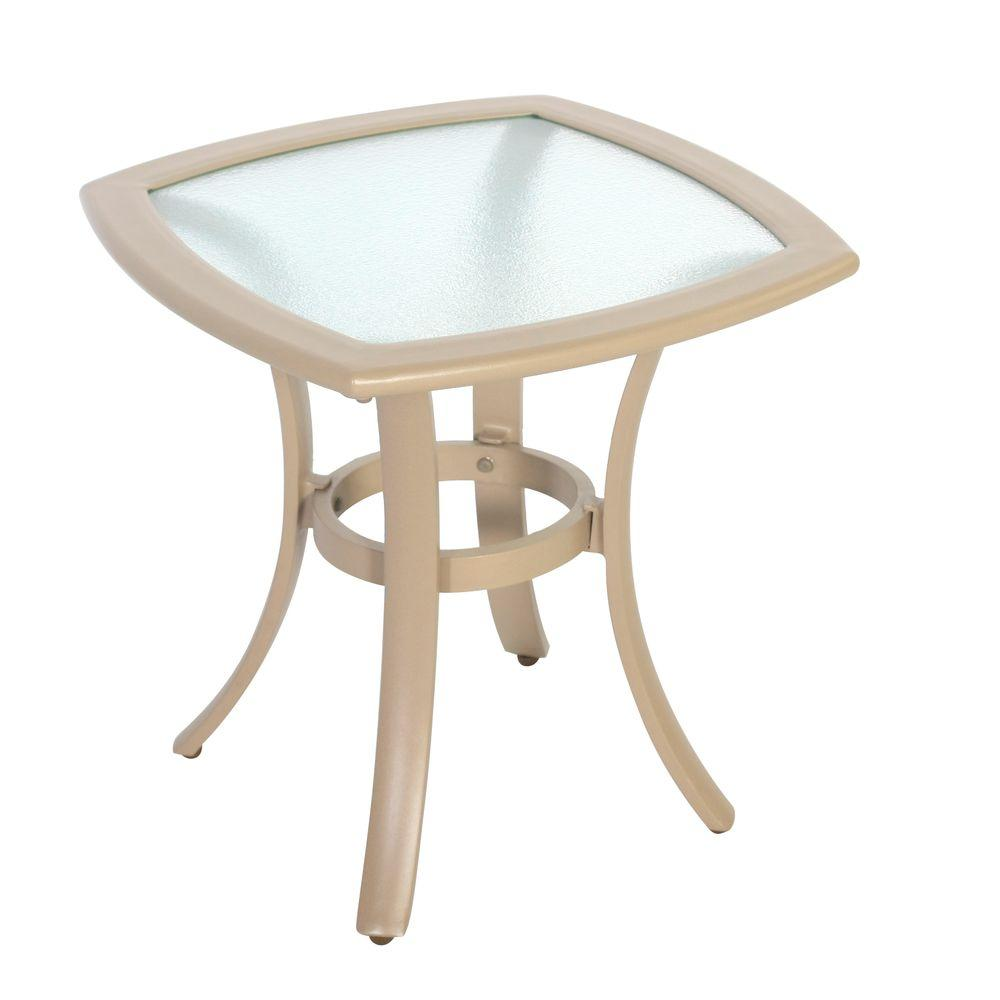 hampton bay westin commercial contract grade patio side table outdoor tables small accent metal with umbrella hole target front porch furniture black acrylic living room cabinets