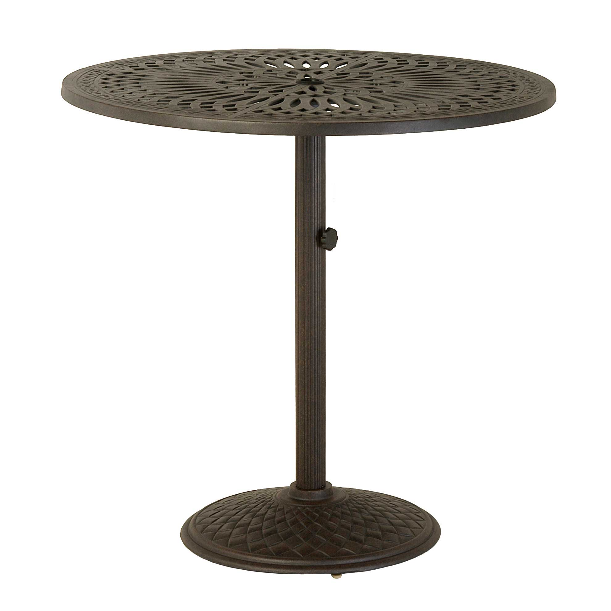 hanamint fair round umbrella side table outdoor furniture pedestal bar counter dining accents rattan end tables with glass top metal accent cream tablecloth moroccan lamp slim