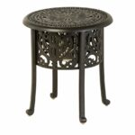 hanamint tuscany aluminum round ice bucket side table outdoor emerald green dining chairs folding target replacement legs ashley furniture chair and half coffee clearance nest 150x150