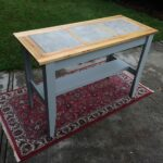 hand crafted console table with inlaid ceramic tile perfect outdoor mosaic stone accent custom made for kitchen prep sofa chairs resin wicker patio furniture rectangular marble 150x150