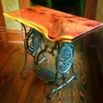 hand crafted live edge accent end table rustics and brown custom made dale tiffany tulip lamp delta furniture drop leaf with folding chairs wicker storage side for living room 150x150