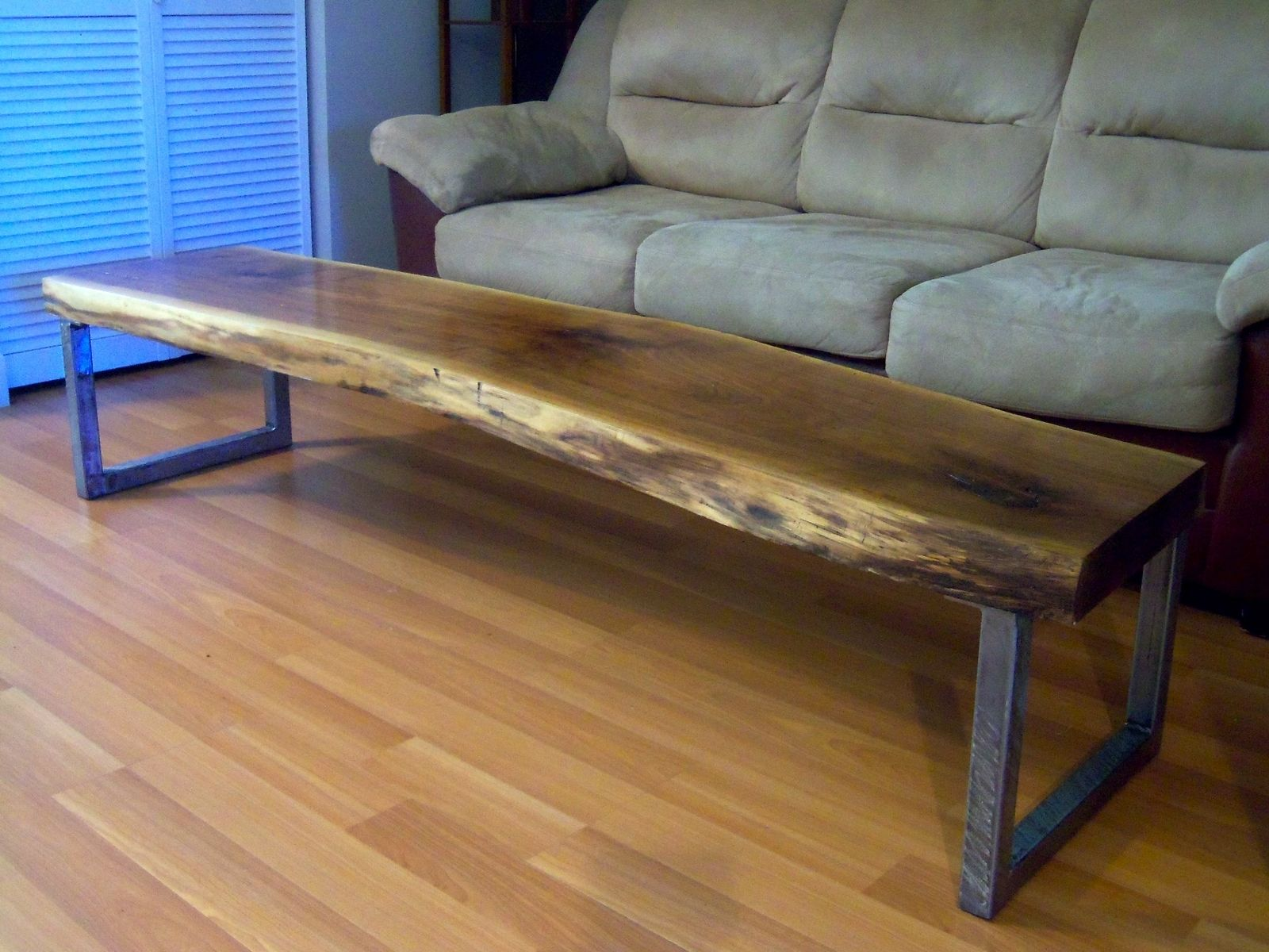 hand made live edge black walnut coffee table with square legs accent brown custom and matching side tables dale tiffany tulip lamp threshold marble top modern floor white outdoor