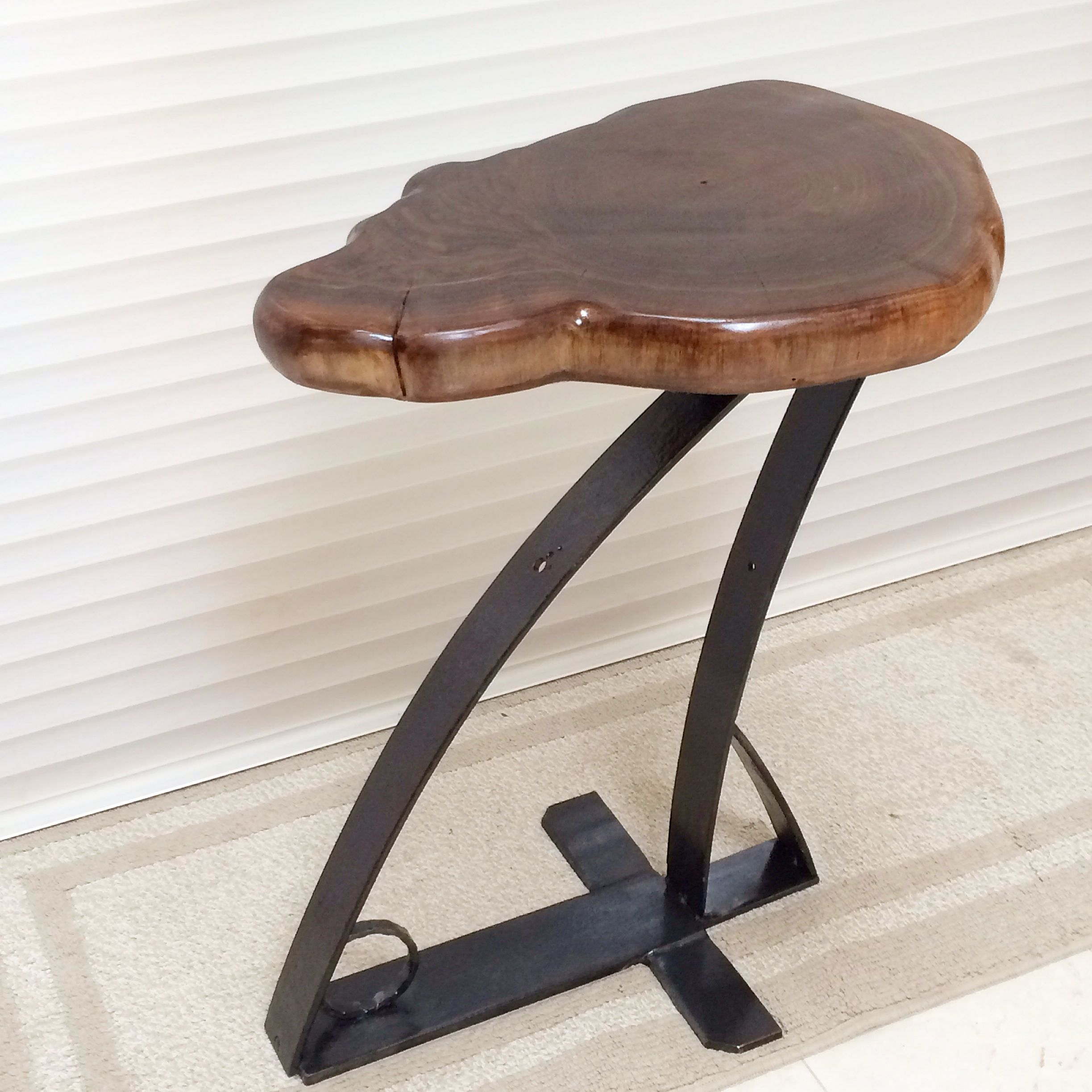 hand made urban industrial side table end accent custom outdoor wood bench round nesting tables college dorm ping ralph lauren tablecloth over the couch indoor plant black antique