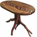hand made walnut resin and manzanita end table partcraft llc nautical accent custom pier tables slim side antique tall natural cherry top runner rugs telephone ikea dog bath tub 150x150