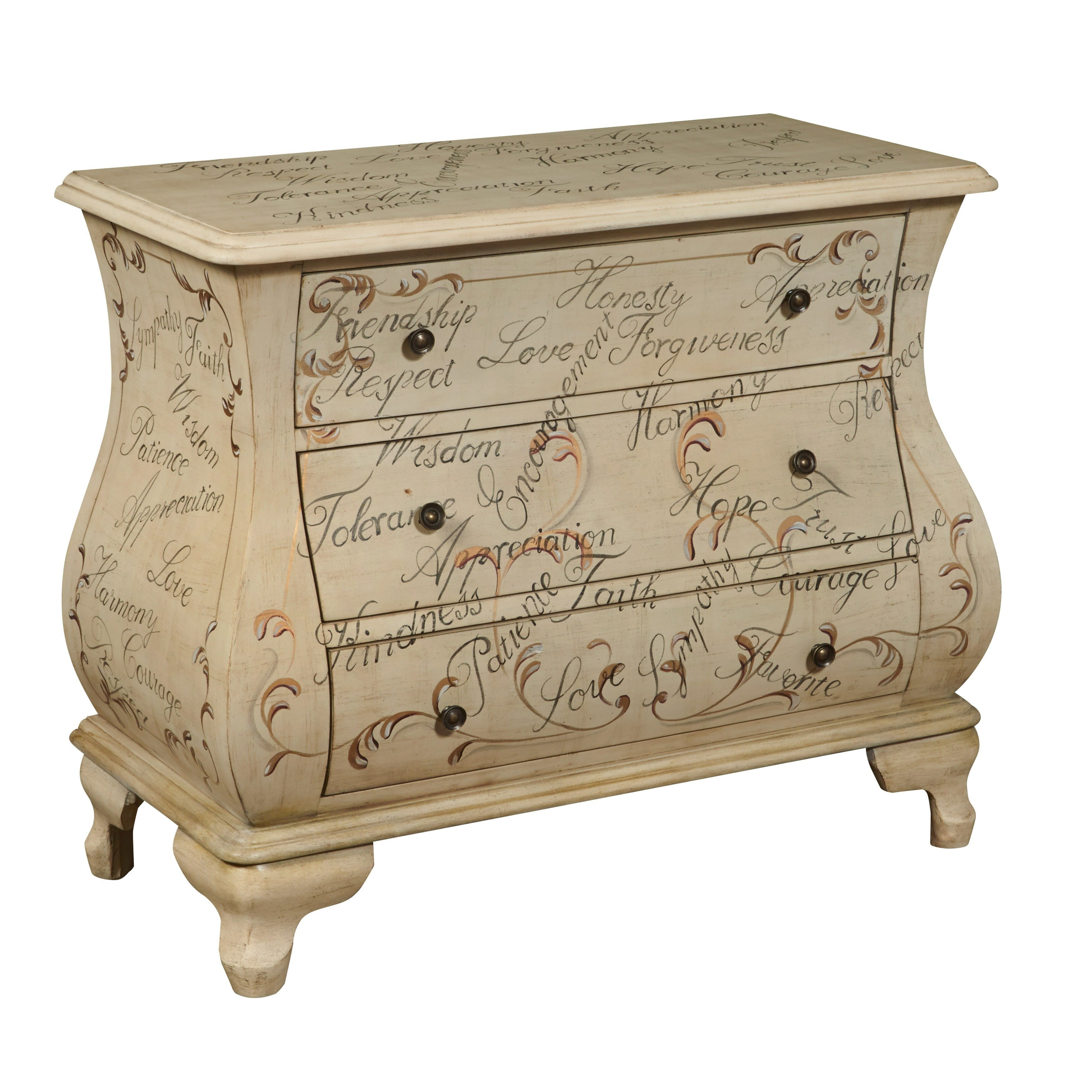 hand painted distressed antique ivory bombay chest company marble top accent table free shipping today round nightstand tablecloth tall west elm desk currey and lamps narrow wood