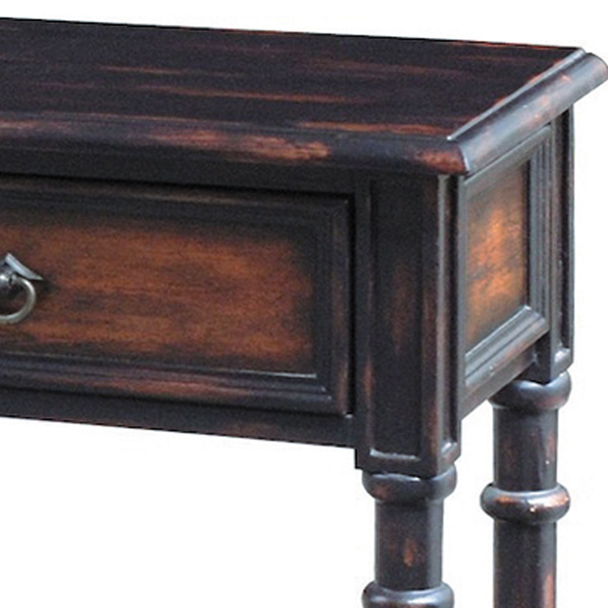 hand painted distressed black brown finish accent console table ping great coffee sofa end tables small balcony umbrella burgundy lamp shades amish inch round patio metal pedestal