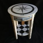 hand painted southern themed accent table fullxfull oeru metal narrow end tables for living room home goods red tablecloth unique patio umbrellas round topper patterns grey 150x150