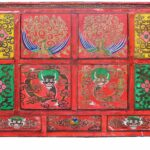 hand painted tibetan cabinet buddhist furniture lamas drum accent table offering altar chair dining metal end tables target resin wicker clearance glass decor barn wood wrought 150x150