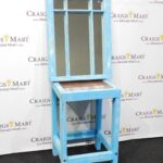 handcrafted distressed accent table mirror craigs mart blue pretty storage boxes ikea large outdoor cover mirrored dresser target piece living room set black marble dining swing 150x150