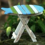 handmade handcrafted albesia wood bawal fish folding end accent table outdoor free shipping orders over nautical themed lighting harvest dining pottery barn home storage cabinets 150x150