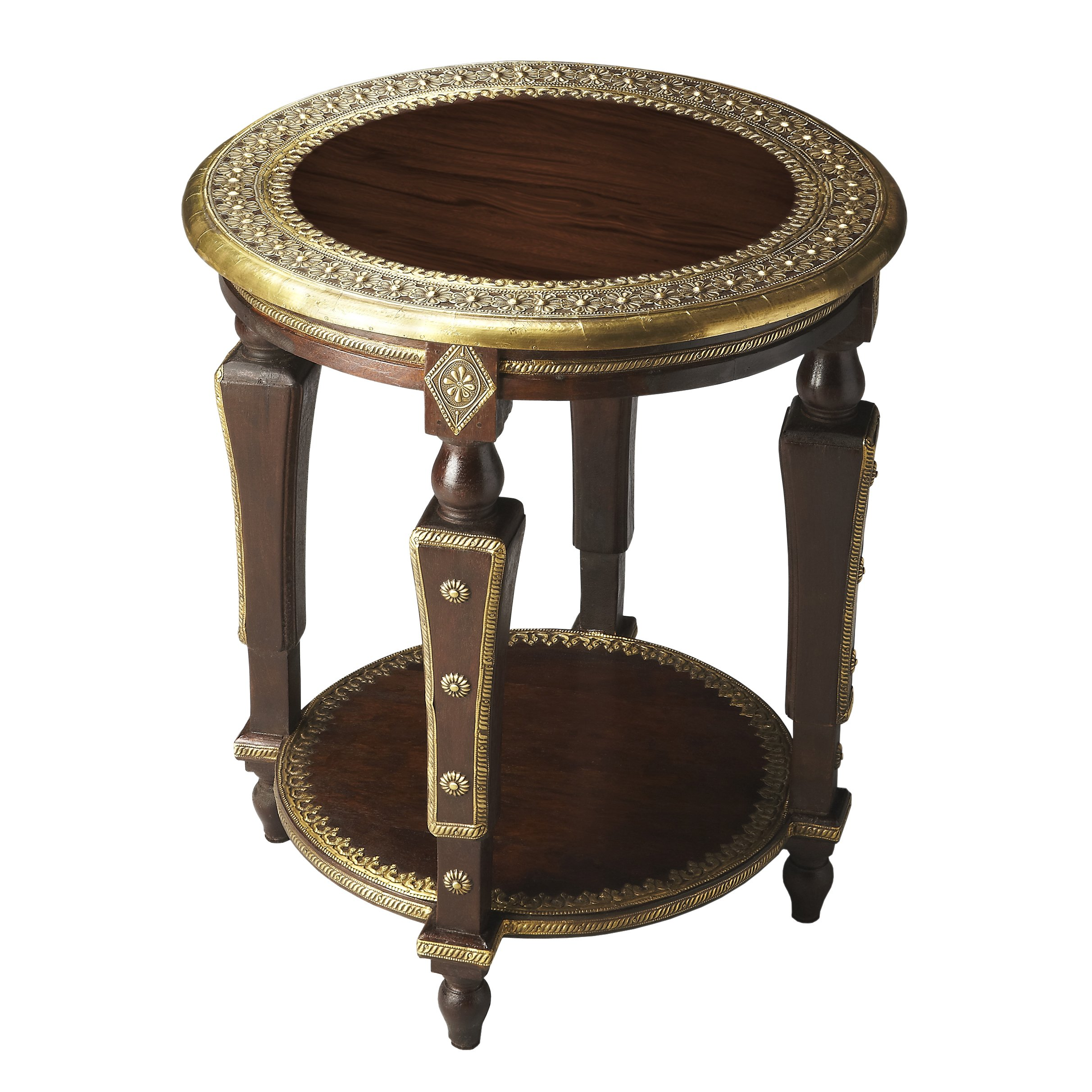 handmade regal round mango wood end table free accent shipping today storage with baskets west elm parsons coffee concrete side nested furniture wedding centerpiece ideas nic