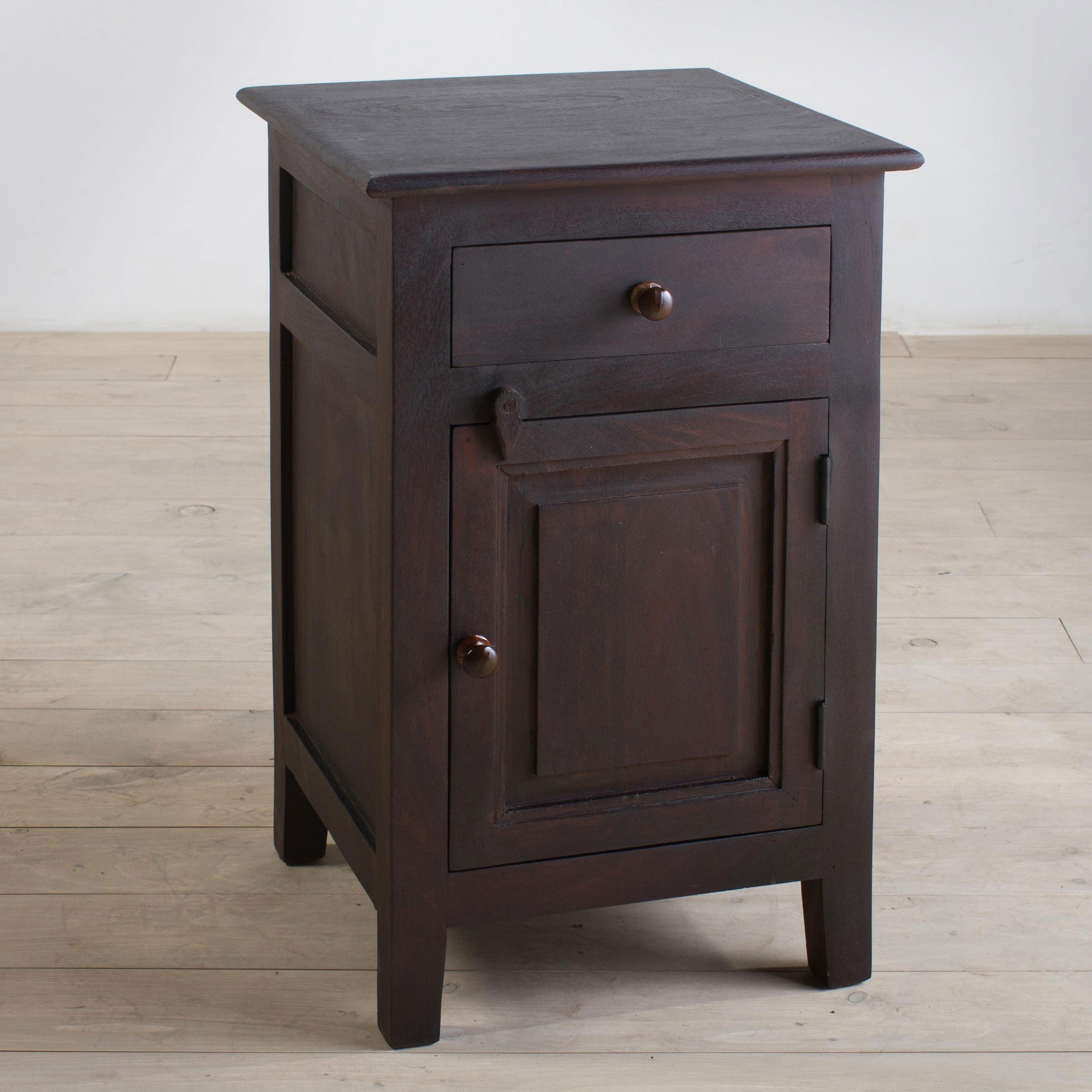 handmade rosewood nightstand with forged iron hardware accent table free shipping today outdoor grill work plastic nic tables bulk tablecloths ikea garden shelf thrive furniture