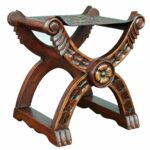 handmade unique baroque richly carved claw foot brown hand tooled leather and wood decorator accent stoo table free shipping today ergonomic furniture bunnings outdoor set high 150x150